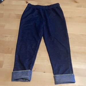 Toddler jeans with rolled cuff